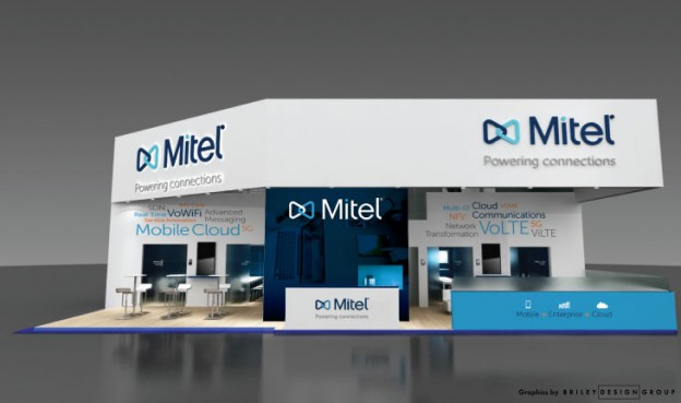Front of MWC trade show booth design