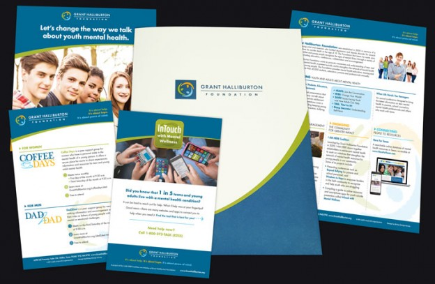 Marketing materials designed for Grant Halliburton Foundation